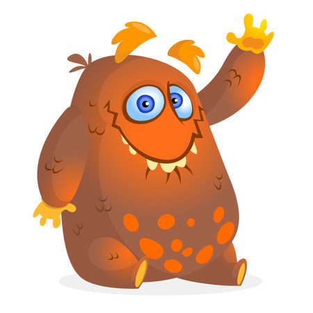 Funny cartoon monster illustration Vector Illustratie