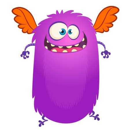 Funny cartoon monster. Vector illustration for Halloween