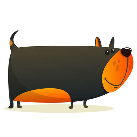 Cartoon angry and funny bulldog Illustration