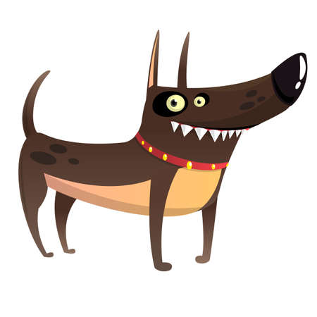 Cartoon Angry Doberman Pinscher Illustration