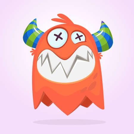 Happy cartoon monster. Vector character