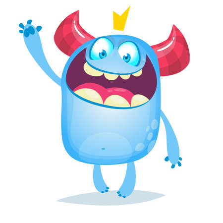 Funny cartoon monster illustration. Bigfoot or yeti charater design 向量圖像