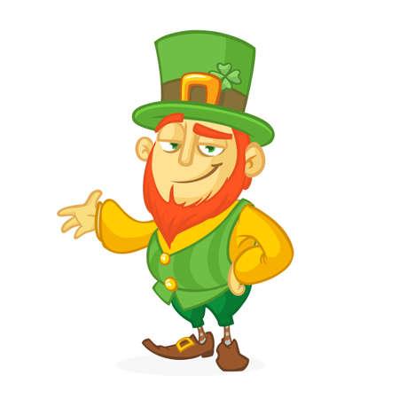 Funny cartoon leprachaun vector illustration. St. Patricks Day