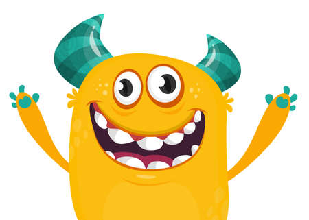 Cartoon  monster. Design for banner, poster or print Иллюстрация