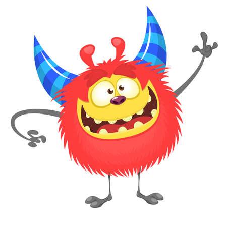 Halloween cartoon monster illustration. Vector stock
