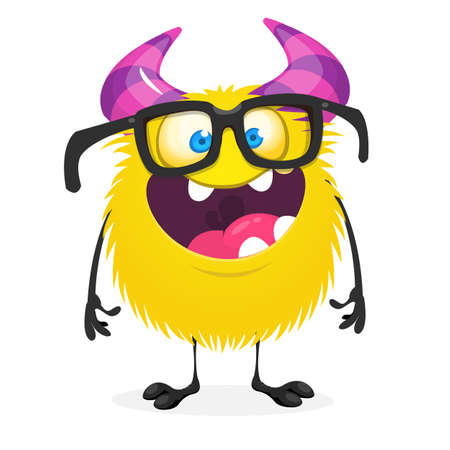 Cute cartoon monster. Vector funny monster character. Design for print, sticker or Halloween party decoration