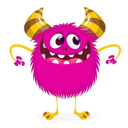 Mischievous cartoon monster character. Vector tock
