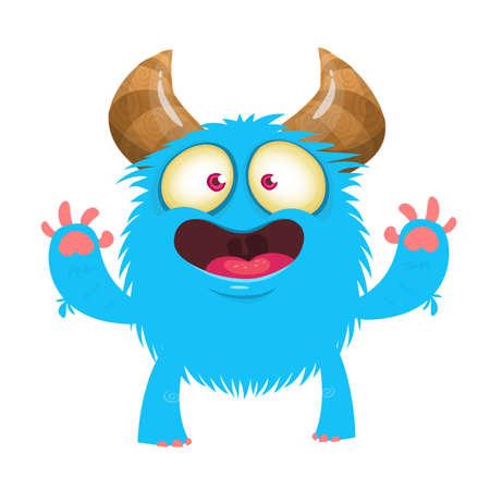 Funny cartoon monster with no teeth. Illustrtion clipart