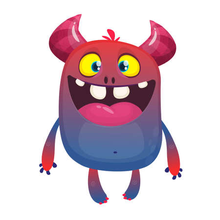 Cool colorful cartoon monster character. Design for print or package