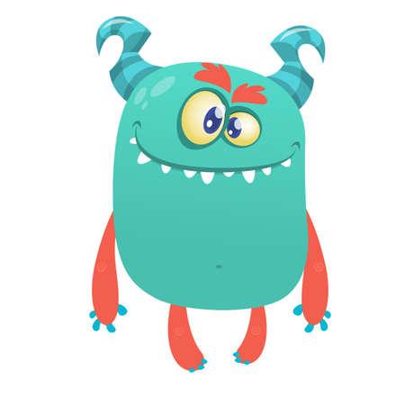 Funny cartoon alien character design