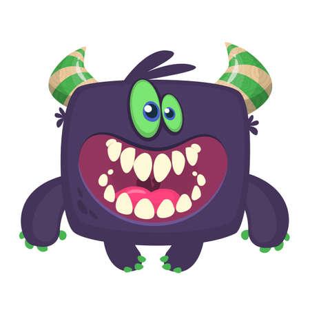 Angry cartoon monster. Halloween illustration Illusztráció