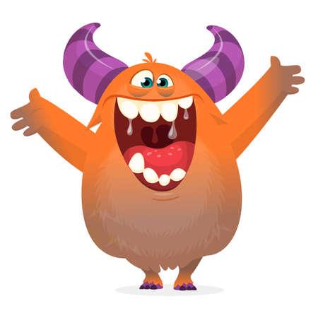 Funny cartoon monster. Vector illustration. Halloween design