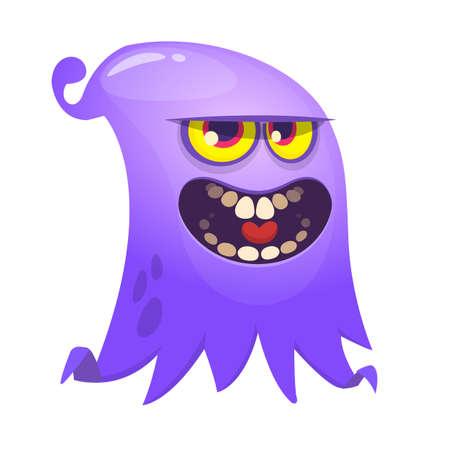 Angry cartoon flying monster. Vector illustration Illusztráció