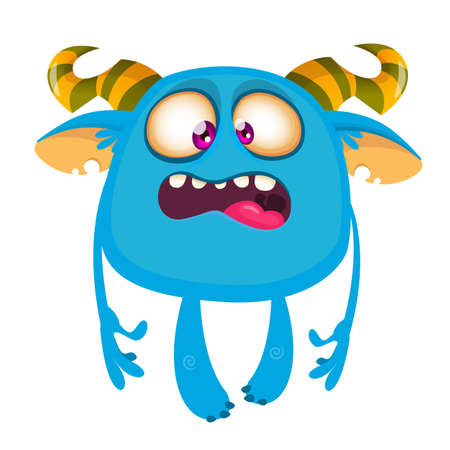 Funny cartoon yeti or bigfoot. Vector illustration of cute monster character