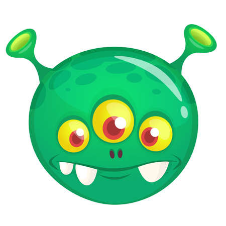 Happy cartoon monster. Halloween vector illustration