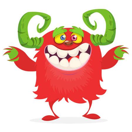 Happy cartoon monster. Halloween vector illustration 向量圖像