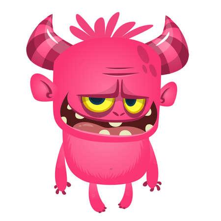 Cartoon funny devil laughing. Vector illustration for Halloween