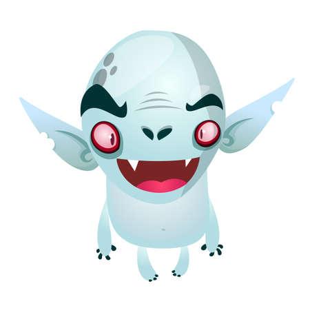 Cute cartoon vampire smiling. Vector illustration
