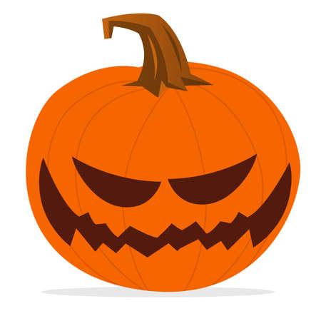 Cartoon funny halloween pumpkin head isolated. Vector illustration Illustration