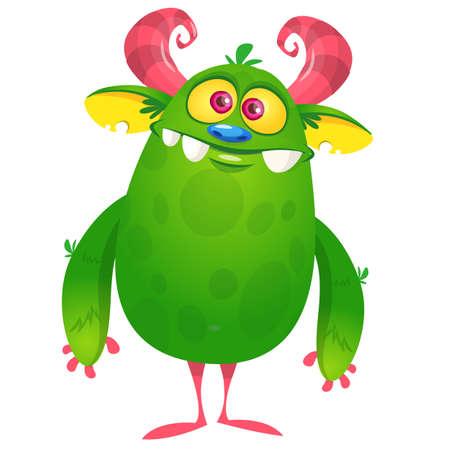 Funny cartoon monster creature. Halloween illustration Vettoriali
