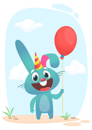 Cartoon Bunny Rabbit Character. Vector illustration. Isolated