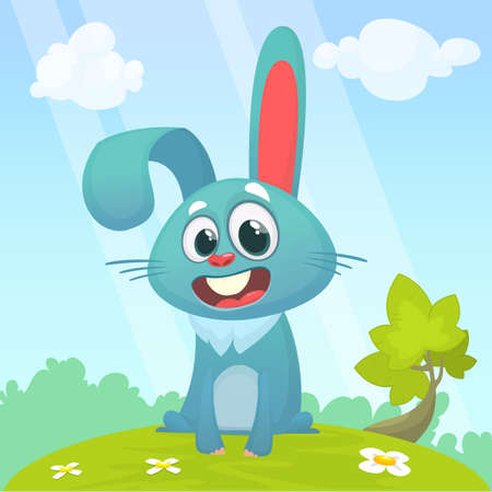 Cartoon Bunny Rabbit. Vector illustration. Isolated Vectores