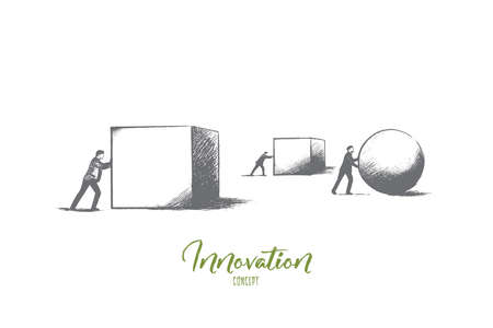 Innovation concept. Hand drawn new success idea. Technology and inspiration concept, idea for successful progress isolated vector illustration.