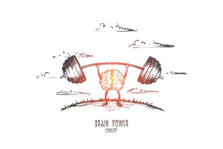 Brain power concept image illustration Illustration