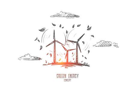 Green energy concept vector illustration Illustration