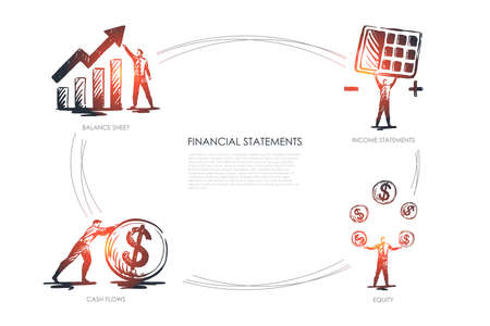 Financial statemens, income statements, equiti, cash flows, balance sheet
