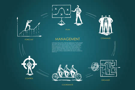 Management, forecast, command, organize, coordinate, control vector set