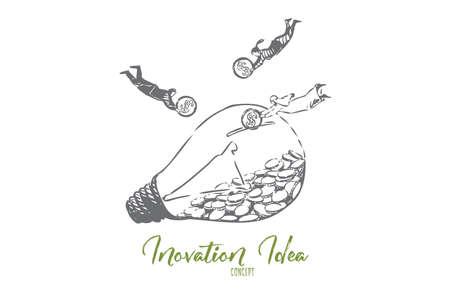 Croquis de concept d'idée d'innovation. Illustration vectorielle isolé