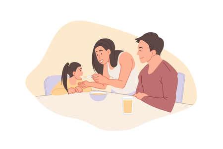 Childhood and parenthood concept. 일러스트