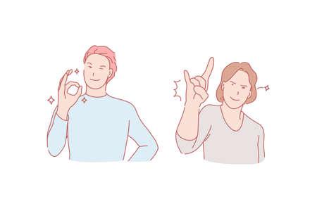 Success, luck, rejoicing, good mood concept Illustration