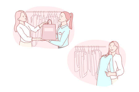 Shopping, retail, consumer, fashion, service concept