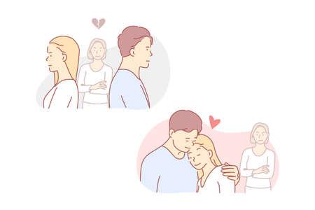 Love, jealous, quarrel, relation, concept.