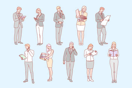 Business people set concept