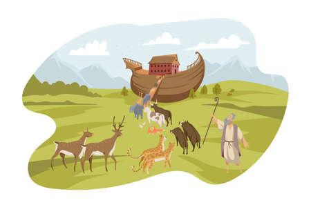 Noahs Ark, Bible concept Vektorgrafik