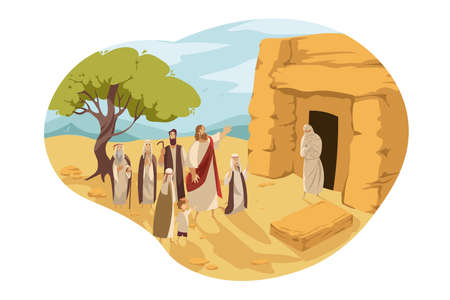 Revival of Lazarus by Christ, Bible concept