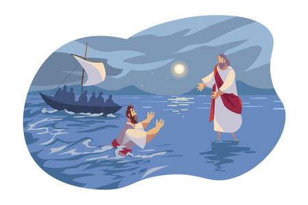 Jésus marche sur l'eau, concept biblique