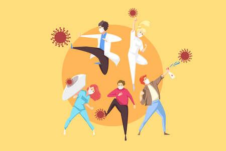 Protection, healthcare, fight, coronavirus, 2019ncov concept