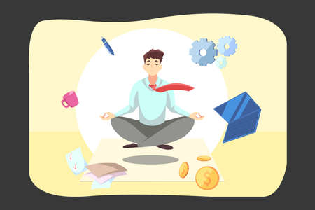Business, relaxation, meditation, rest concept