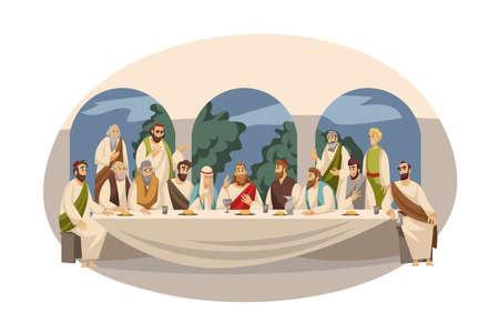 Christian bible stories illustration