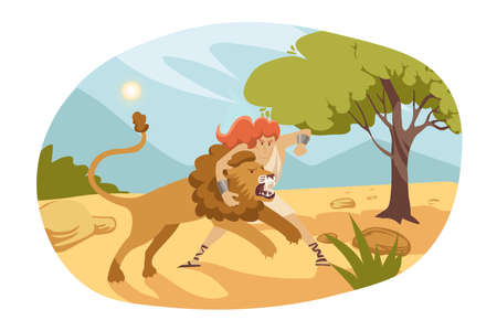 Christian bible stories illustration