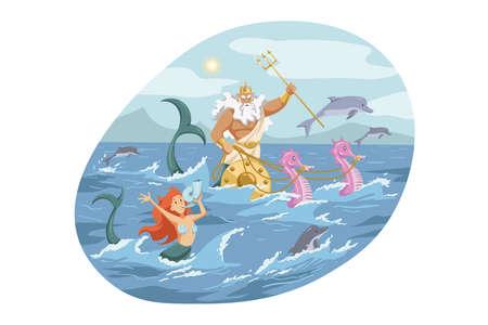 Mythology, Greece,   god, Neptune, religion concept