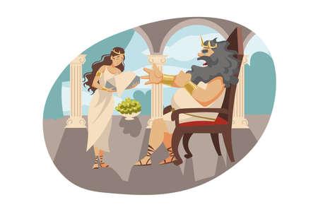 Mythology, Greece,   legend, religion concept.