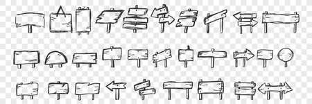 Hand drawn tablets doodle set 向量圖像
