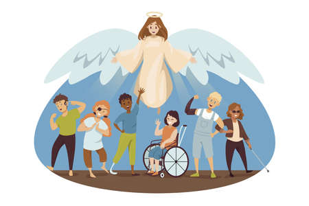 Protection, disability, health, care, support, religion, christianity concept