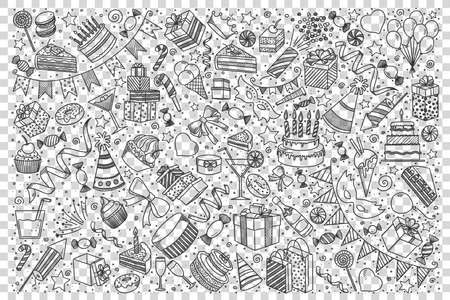 Holiday doodle set Иллюстрация