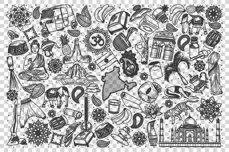 India doodle set